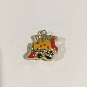 Jewelry - 14k Yellow Gold Puffed Train 🚂 Charm With Enamel